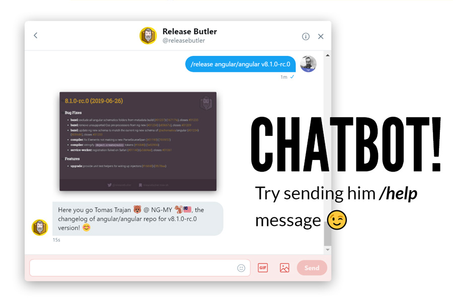 Release Butler chatbot example