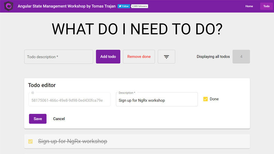 Angular State Management Workshop by Tomas Trajan - Example